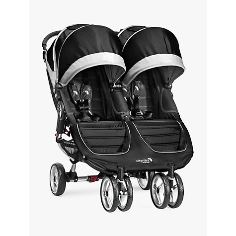 Buy Baby Jogger City Mini Twin Pushchair, Black Online at johnlewis.com