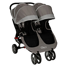 Buy Baby Jogger City Mini Twin 2012 Pushchair, Stone Online at johnlewis.com