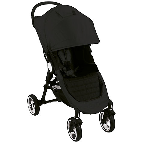 Buy Baby Jogger City Mini 4 Wheel Pushchair, Black Online at johnlewis.com