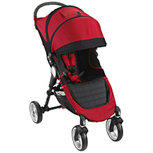 Buy Baby Jogger City Mini 4 Wheel Pushchair, Crimson Online at johnlewis.com
