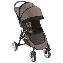 Buy Baby Jogger City Mini 4 Wheel Pushchair, Stone/Black Online at johnlewis.com