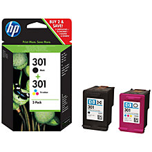 Buy HP 301 Combo Pack Ink Cartridges, Black and Tri-Colour, CR340EE Online at johnlewis.com