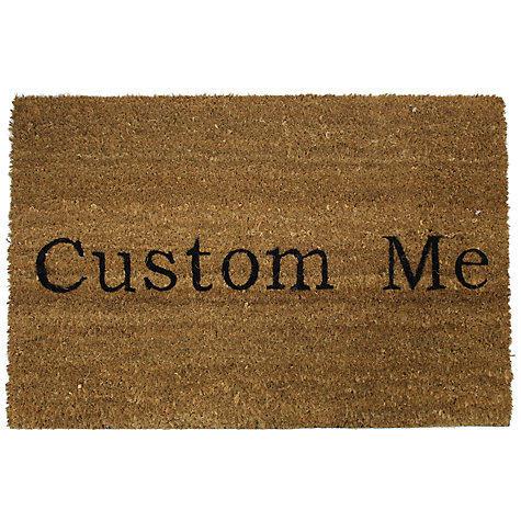 Buy John Lewis Personalised Custom Coir Doormat, Natural, L75 x W50cm Online at johnlewis.com
