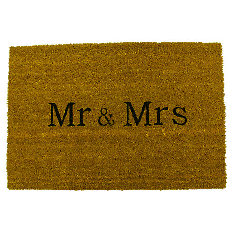 Buy John Lewis Personalised Custom Coir Doormat, Natural, L90 x W60cm Online at johnlewis.com