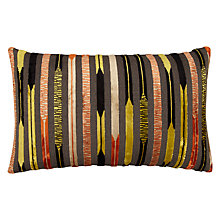 Buy Sanderson Kandinsky Stripe Cushion, Orange / Grey Online at johnlewis.com