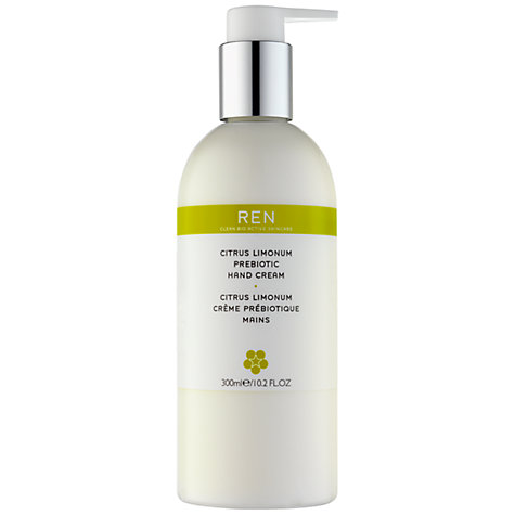 Buy REN Citrus Limonum Prebiotic Hand Cream, 300ml Online at johnlewis.com