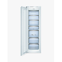 Buy Bosch GIN38A55GB Integrated Tall Freezer, A+ Energy Rating, 56cm Wide Online at johnlewis.com