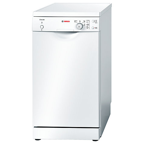 Buy Bosch Classixx SPS40C12GB Slimline Freestanding Dishwasher, White Online at johnlewis.com