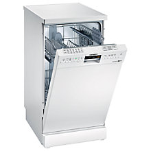 Buy Siemens SR26M230GB Slimline Dishwasher, White Online at johnlewis.com
