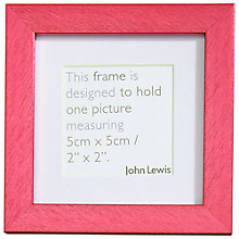 "Buy John Lewis Brights Photo Frame, 2 x 2"" (5 x 5cm) Online at johnlewis.com"