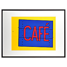 Buy Tate, Patrick Caulfield- Cafe Sign Framed Print, 82 x 62cm Online at johnlewis.com