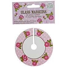 Buy Vintage Rose Glass Markers Online at johnlewis.com