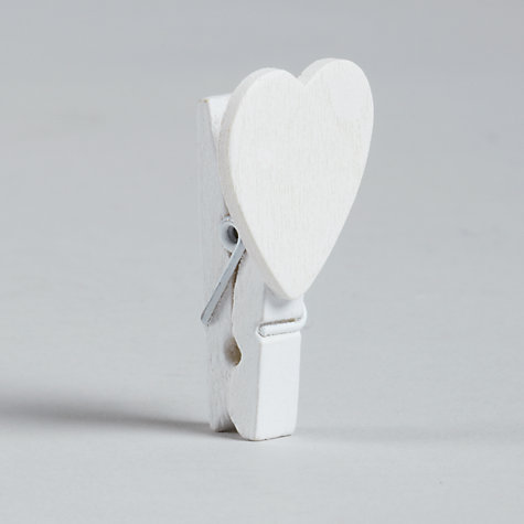 Buy John Lewis Heart Pegs, Pack of 20 Online at johnlewis.com