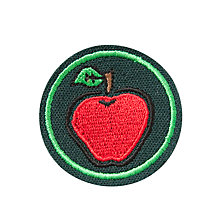 Buy Orchard School and Nursery Cap Badge, Green/Red Online at johnlewis.com