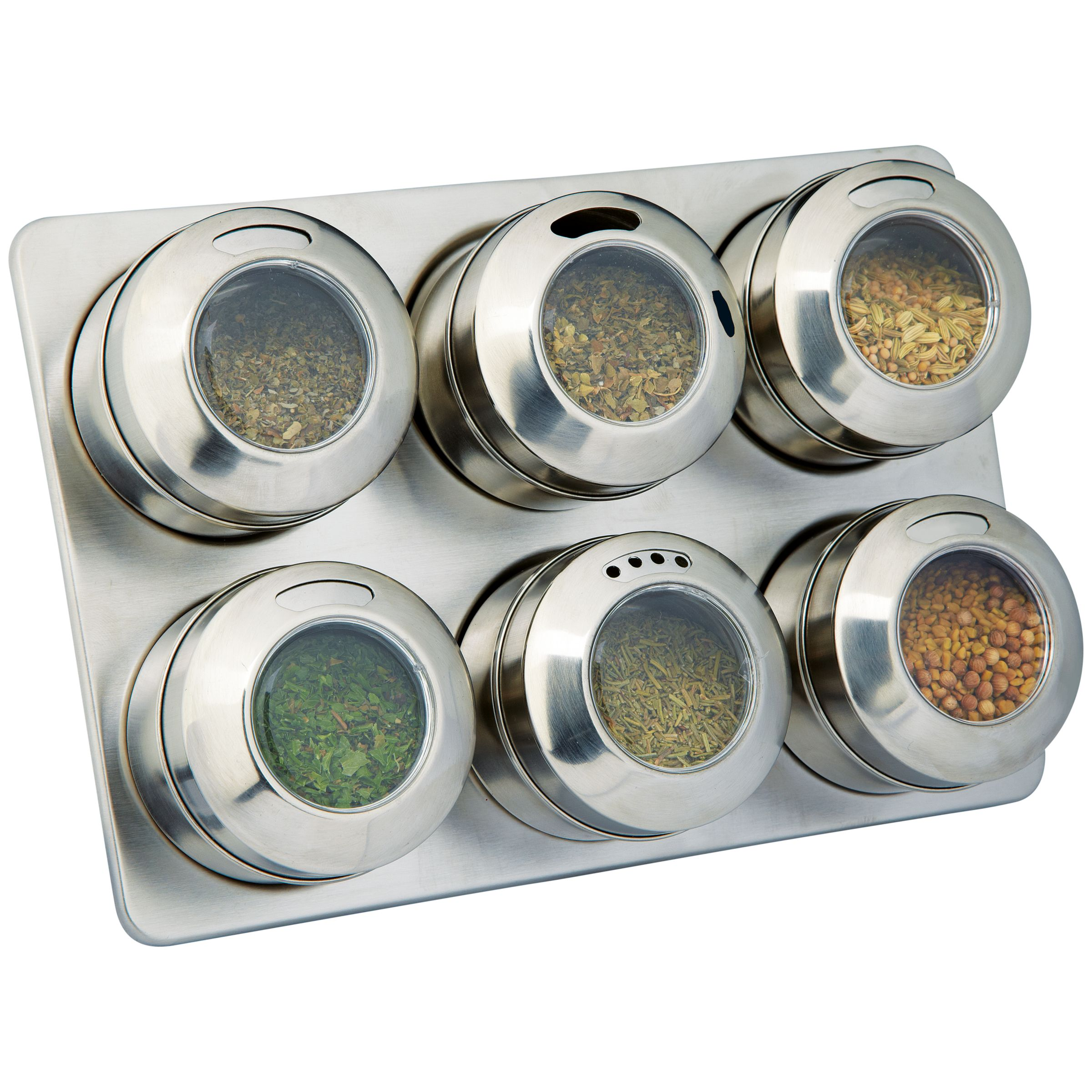 House by John Lewis 6 Jar Magnetic Spice Rack