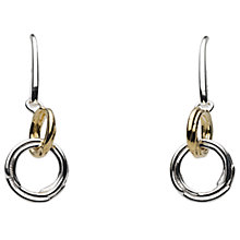 Buy Kit Heath Double Coil Two Tone Drop Earrings Online at johnlewis.com