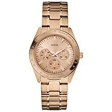 Buy Guess W13101l1 Minichase Women's Round Dial Rose Gold Chronograph Watch Online at johnlewis.com