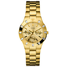Buy Guess W13576l1 Glisten Women's Round Dial Diamante Bracelet Watch Online at johnlewis.com