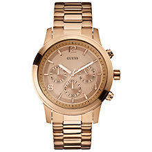 Buy Guess W17004l1 Women's Spectrum Rose Gold Round Dial Chronograph Stainless Steel Bracelet Watch Online at johnlewis.com