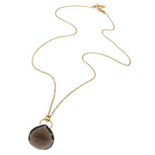 Buy Amrapali for Dinny Hall Suspended Smokey Quartz Briolette Pendant Drop Necklace Online at johnlewis.com