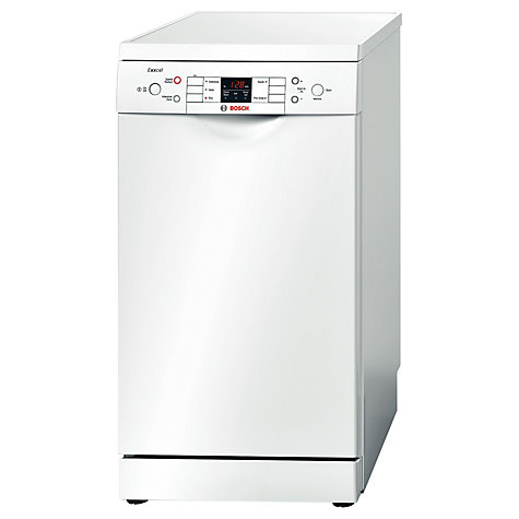 Buy Bosch Exxcel SPS53E12GB Slimline Dishwasher, White Online at johnlewis.com