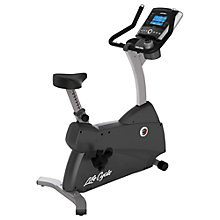Buy Life Fitness Lifecycle C3 Upright Exercise Bike, Go Console Online at johnlewis.com