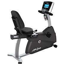 Buy Life Fitness Lifecycle R1 Recumbent Exercise Bike, Go Console Online at johnlewis.com
