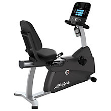 Buy Life Fitness Lifecycle R1 Recumbent Exercise Bike, Track Console Online at johnlewis.com