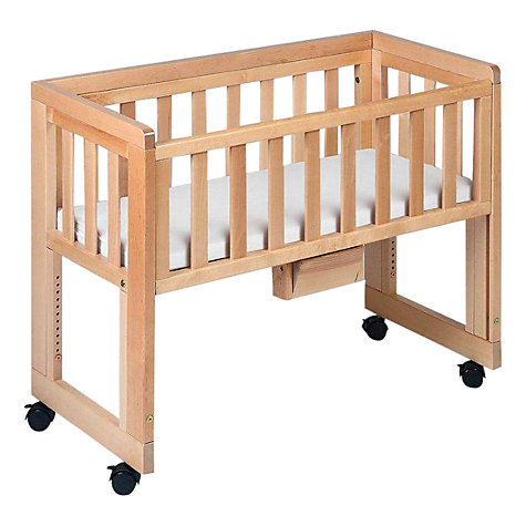 Buy Troll Bedside Crib, Natural Online at johnlewis.com