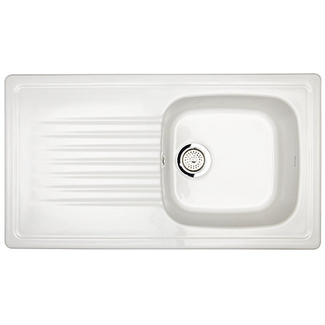 Buy John Lewis 1.0 Ceramic Sink with Reversible Bowl, White Online at johnlewis.com