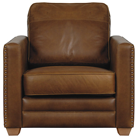 Buy John Lewis Hudson Leather Armchair Online at johnlewis.com