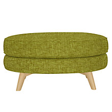 Buy John Lewis Barbican Footstool with Light Legs, Henley Olive Online at johnlewis.com