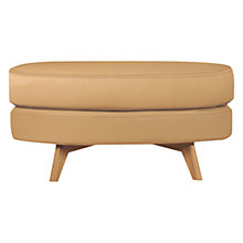 Buy John Lewis Barbican Stool, Light Leg, Prescott Buckskin Leather Online at johnlewis.com