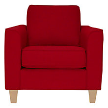 Buy John Lewis Portia Armchair, Adige Stripe, Red / Light Leg Online at johnlewis.com