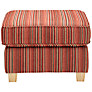 Buy John Lewis Portia Footstool, Adige Stripe, Red Online at johnlewis.com