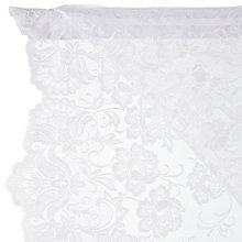 Buy John Lewis Manor Lace Slot Head Voile, White, Drop 114cm Online at johnlewis.com