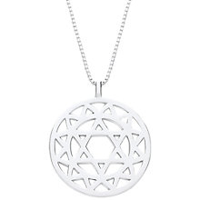 Buy Daisy Chakra Heart Sterling Silver Pendant Necklace Online at johnlewis.com