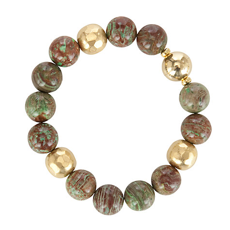 Buy Etrusca Chrysolite and 18ct Gold Plated Bronze Magnetic Bead Bracelet Online at johnlewis.com