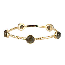 Buy Etrusca 18ct Gold Plated Bronze Cabochon Hammered Bangle Online at johnlewis.com