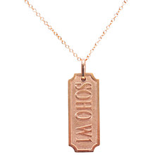 Buy London Road Soho W1 Tag Rose Gold Necklace Online at johnlewis.com