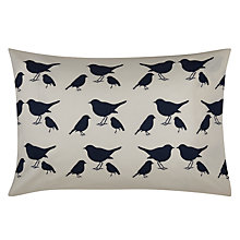 Buy Anorak Kissing Robins Standard Pillowcases, Pair, Black/Cream Online at johnlewis.com