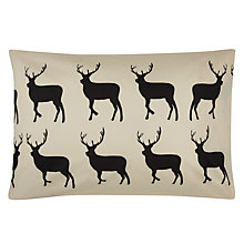 Buy Anorak Kissing Stags Standard Pillowcases, Pair, Black/Cream Online at johnlewis.com