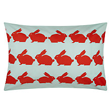 Buy Anorak Kissing Rabbits Standard Pillowcases, Pair, Multi Online at johnlewis.com