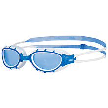 Buy Zoggs Predator Junior Swimming Goggles, Blue/White Online at johnlewis.com