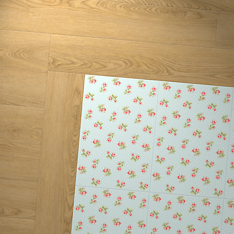 Buy Cath Kidston For Harvey Maria Rose Sprig Vinyl Floor Tiles, 1.115m² Pack Online at johnlewis.com