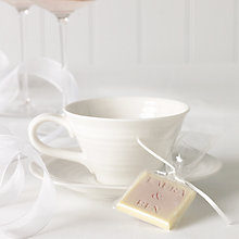 Buy Choc on Choc Personalised Pink Glitter White Chocolate Favours, Pack of 50 Online at johnlewis.com
