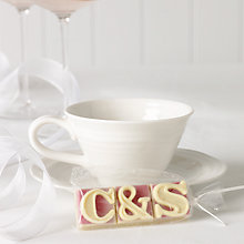 Buy Choc on Choc Personalised 3-Character Chocolate Favours, Pack of 10 Online at johnlewis.com
