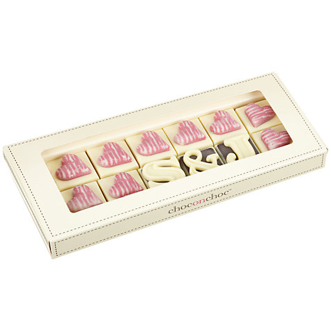 Buy Choc on Choc Personalised White Chocolate Box, 150g Online at johnlewis.com