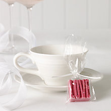 Buy Choc on Choc White Chocolate Party/Wedding Favours, Pink Love, x 20, 440g Online at johnlewis.com