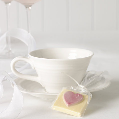 Buy Choc on Choc White Chocolate Party/Wedding Favours, Pink Heart, x 20, 440g Online at johnlewis.com